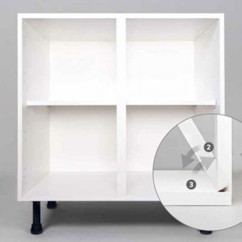 Clicbox Kitchen Base Unit in White
