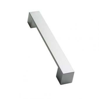 Flat Bar Handle Satin Chrome