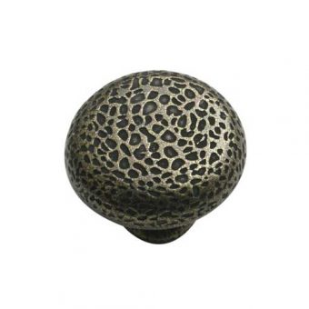 Hammered Knob in Antique Brass