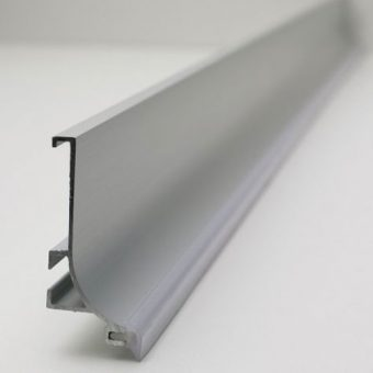Handleless Kitchen Rail Top Fit in Aluminium
