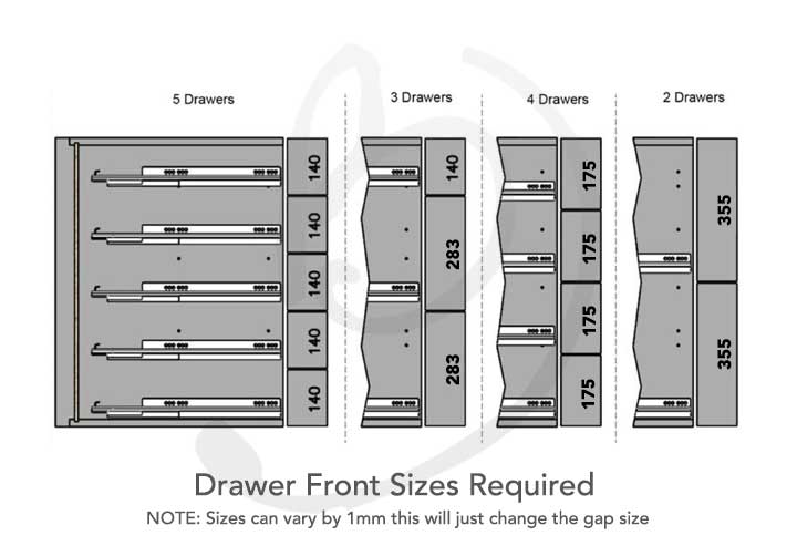cream kitchen drawer units