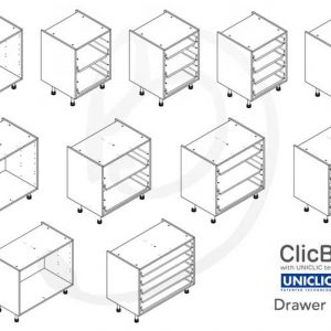 Kitchen Drawer Units in White