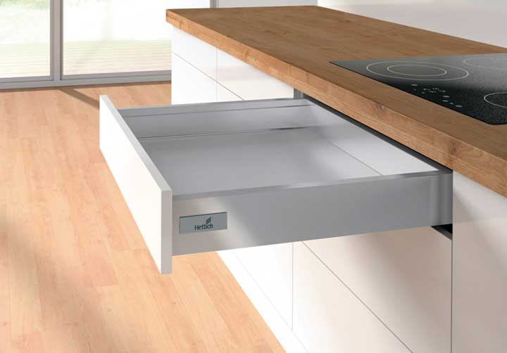 Kitchen Soft Close Drawer in Silver