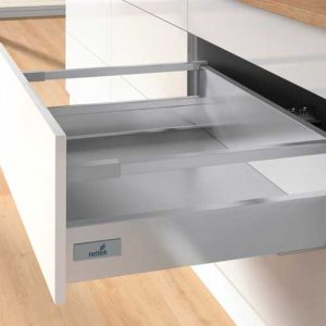 Kitchen Soft Close Pan Drawer in Silver