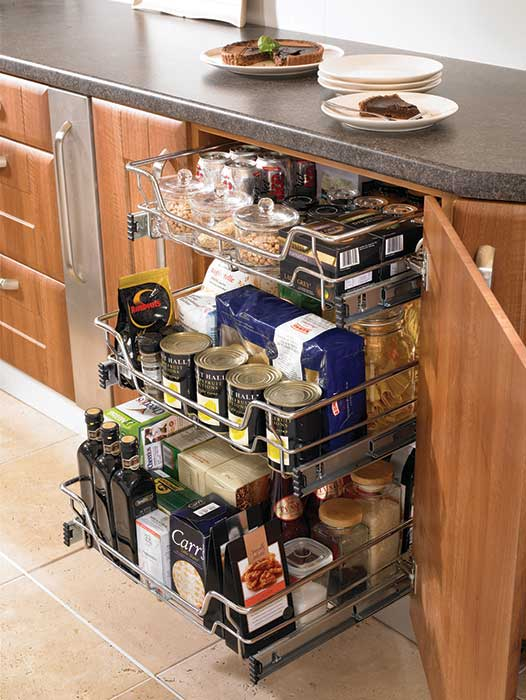 Kitchen Wire Basket Individual Drawers