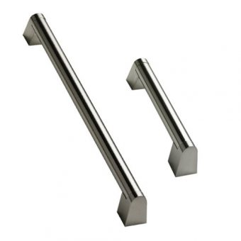 Angled Boss Bar Handle Stainless Steel