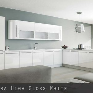 High Gloss White Kitchen Doors