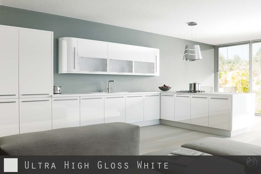 Ultra High Gloss White Kitchen Doors