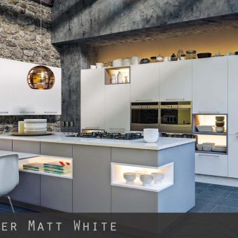 Matt White Kitchen Doors