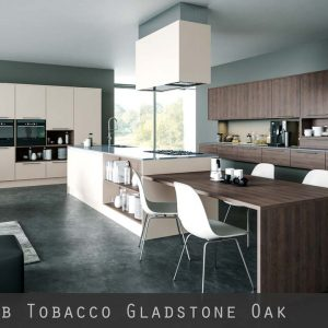 Tobacco Gladstone Oak Kitchen Doors