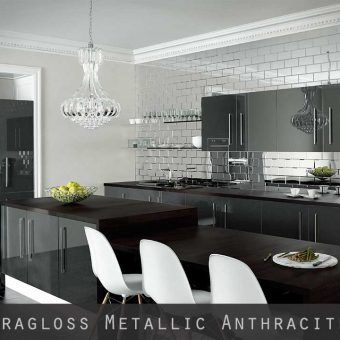 High Gloss Metallic Anthracite Kitchen Doors