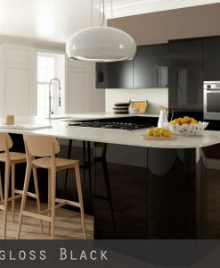 Ultra High Gloss Black Kitchen Doors