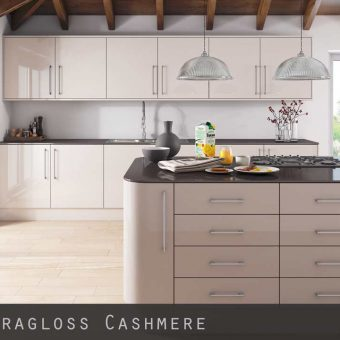Ultra High Gloss Cashmere Kitchen Doors