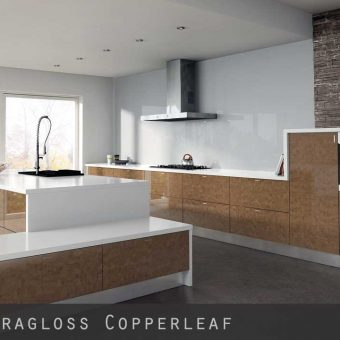 High Gloss Copperleaf Kitchen Doors