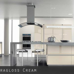 High Gloss Cream Kitchen Doors