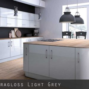 Ultra High Gloss Grey Kitchen Doors