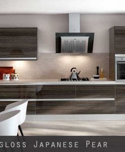 High Gloss Woodgrain Japanese Pear Kitchen Doors