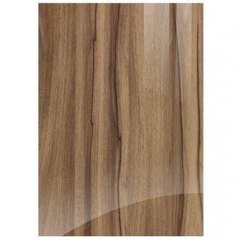 High Gloss Noce Marino Woodgrain Kitchen Door