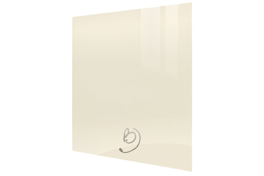 Ultra high gloss cream kitchen end panels for Cream kitchen carcasses
