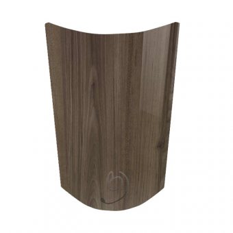 High Gloss Woodgrain Japanese Pear Curved Kitchen Door