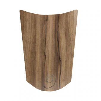 High Gloss Woodgrain Noce Marino Curved Kitchen Door