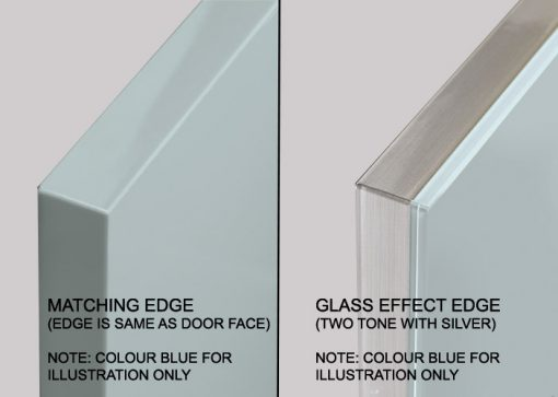 glass effect edge kitchen door 3d