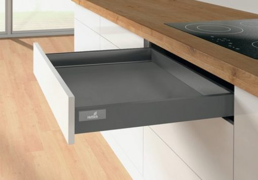 Hettich Soft Close Drawer Atira Graphite Anthracite