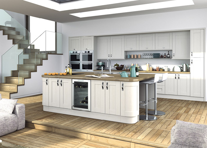 Woodgrain White Kitchen Matching Components